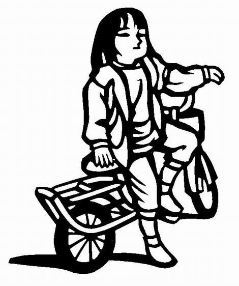 無料】切り絵素材:「自転車 ... : 雛人形 紙 : すべての講義